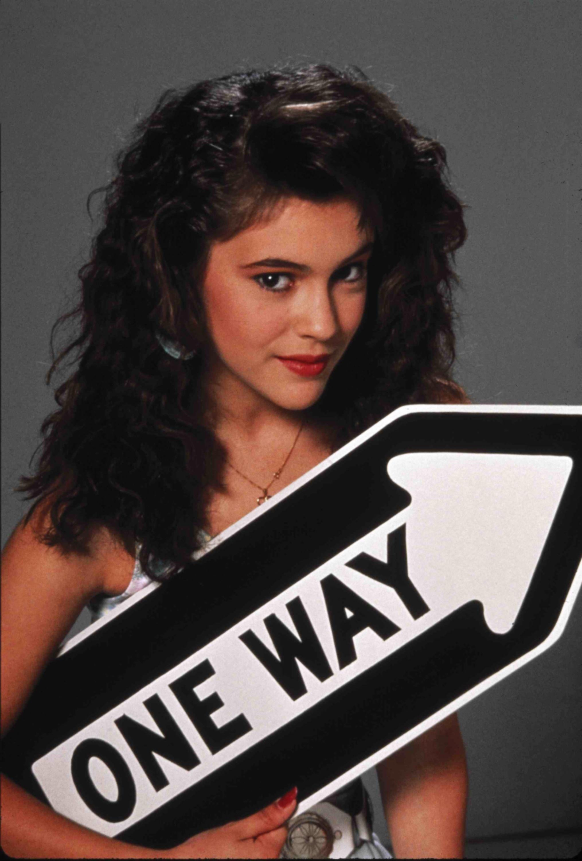 """Alyssa Milano Hot Scenes alyssa milano from a """"crash course"""" movie 1987 promo photo"""