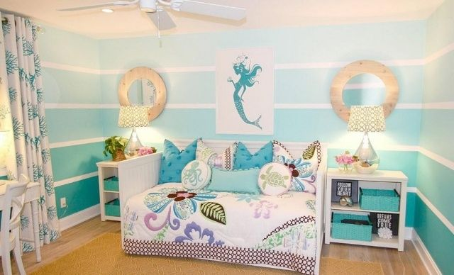 Kinderzimmer wand ideen mädchen  Kinderzimmer für kleine Mädchen - Das Schlafzimmer einer ...