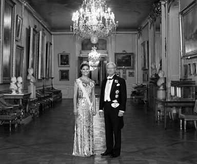 Seine Majestät König Carl XVI Gustaf mit seiner ältesten Tochter Ihre Königliche Hoheit Kronprinzessin Victoria.  Foto: kungahuset.se