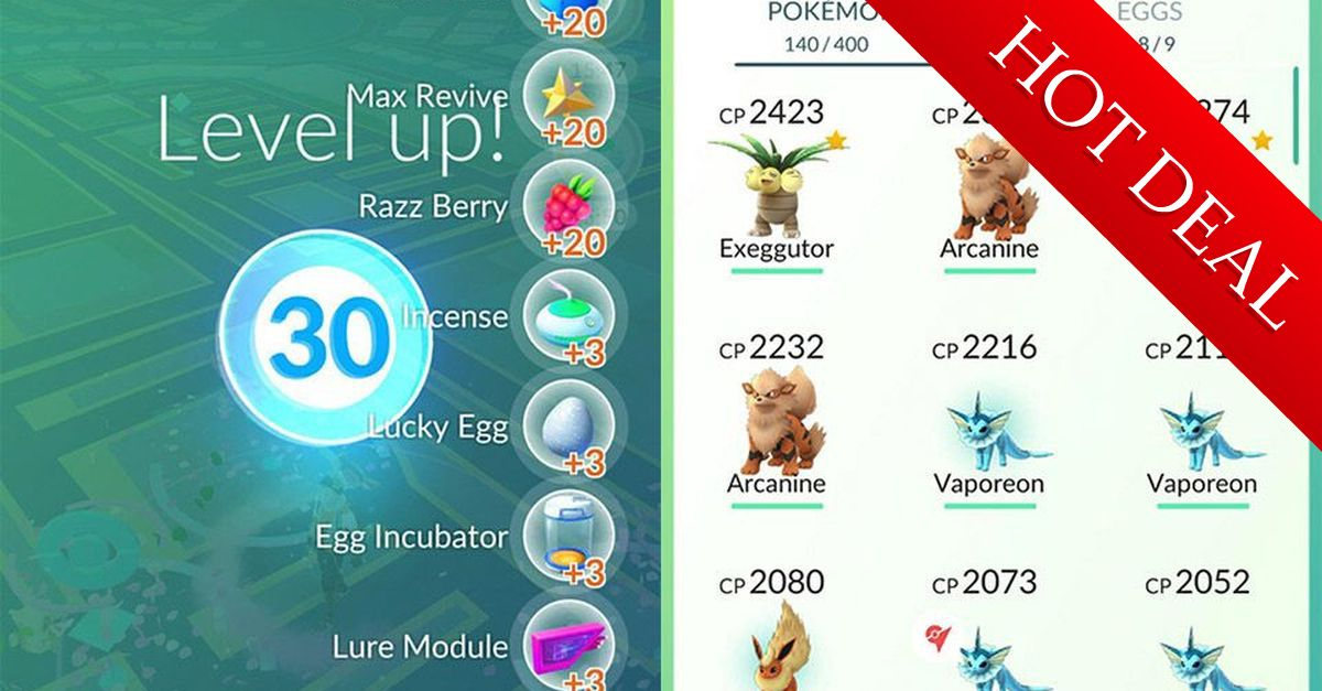 Buy a pokemon go account in best site chn mobiles