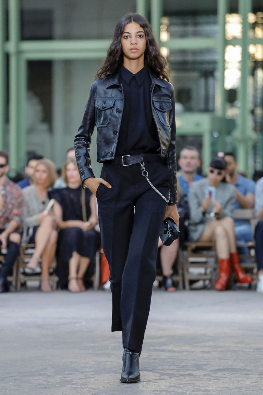 Ami Ss20 Dabbles In Gender Fluid Insouciance Fashion Paris Fashion Week Leather Jacket Outfits