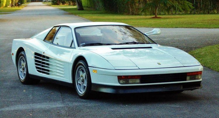 Ebay Find Original Miami Vice Ferrari Testarossa With A Price Tag Of Us 1 75 Million Carscoops White Ferrari Ferrari Testarossa Miami Vice