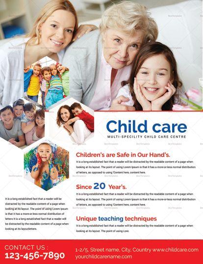 Child Care Flyer Design Template Design Flyer Templates