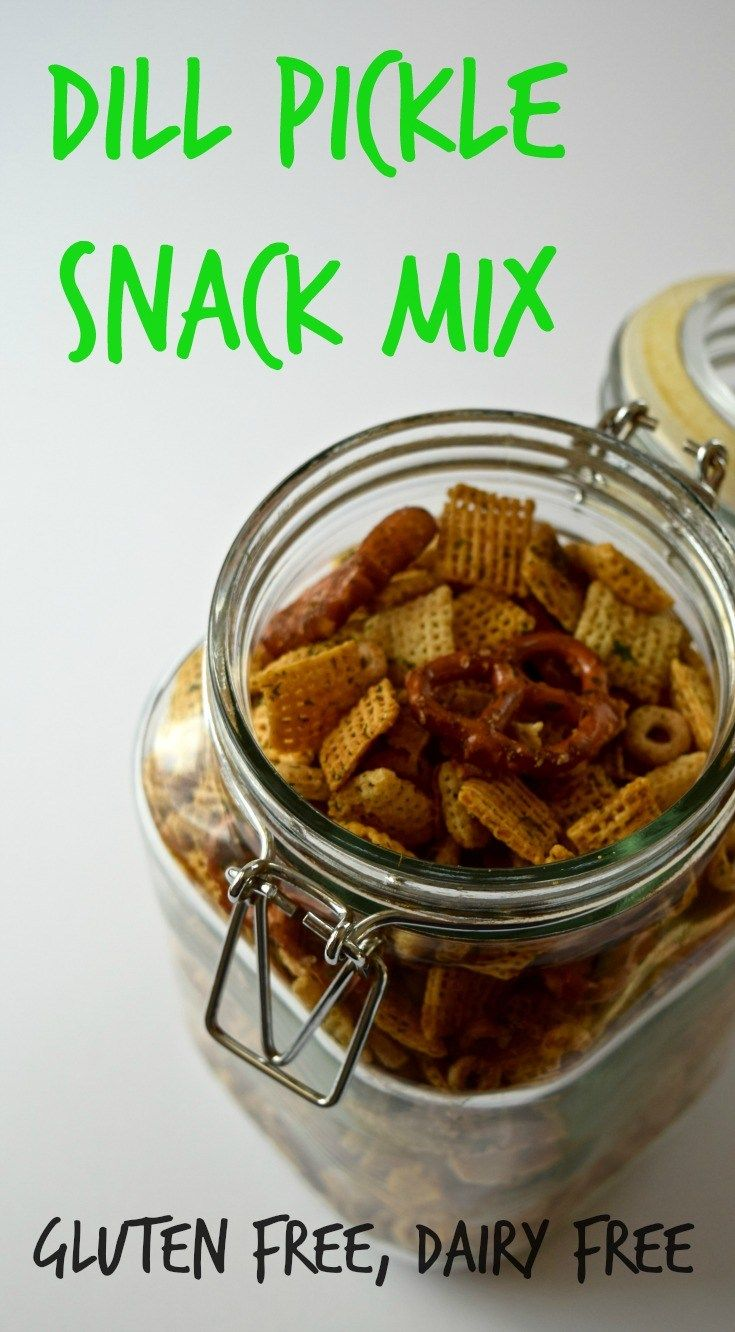 Dill pickle snack mix gluten free dairy free recipe