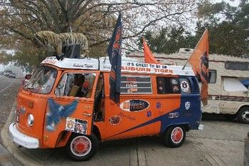 Auburn VW Bus!! They are on the corner of Donahue and Lem Morrison every game!!