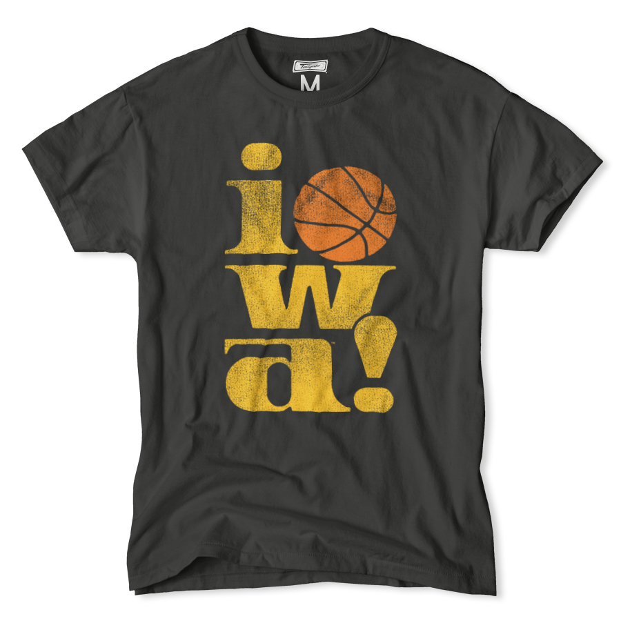 Iowa Vintage Basketball Tee Basketball T Shirt Designs Iowa Hawkeyes Basketball Tees