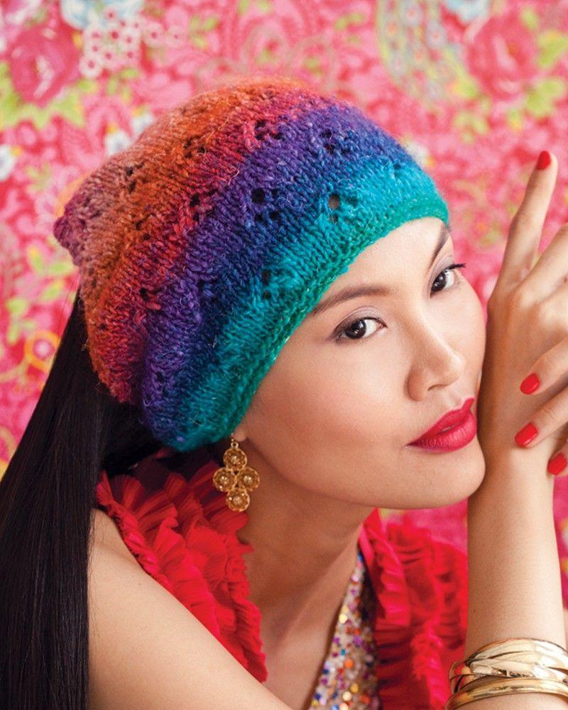 Head Kerchief Knitting, Noro yarn, Knitted hats