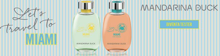 Diventa Tester profumo Let's Travel To Miami di Mandarina Duck con Mybeauty
