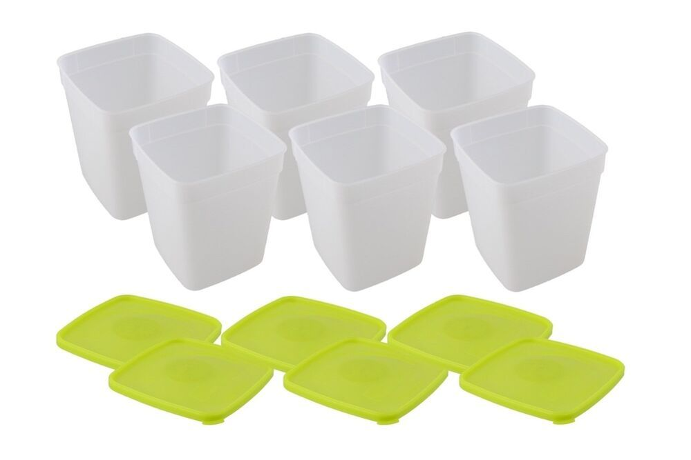 Arrow Plastic 1 Quart Freezer Containers 3 Pack Set Of 2 Total 6 Containe Food Storage Containers Plastic Plastic Container Storage Plastic Food Containers