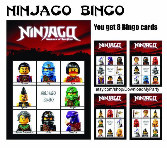 Ninjago lotto Bingo Ninja Full House game. by PrintYou ...