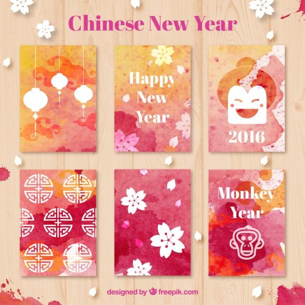 Download Watercolor Chinese New Year Cards For Free Chinese New
