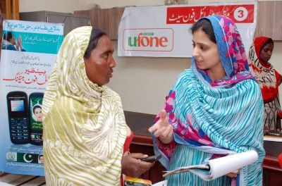 Cell Phones Deliver Social Assistance Funds in Pakistan