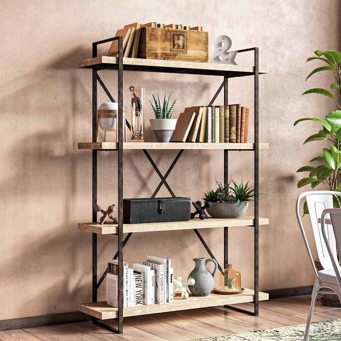 Hardwick Metal Wood Bookcase images