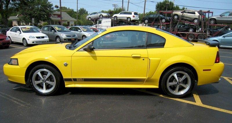 Yellow 2004 Mach 1 Mustang Mustang Coupe Mustang Mach 1