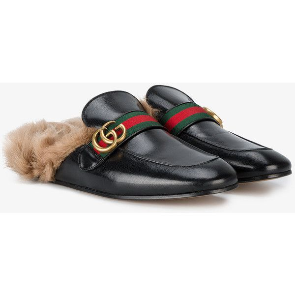 27badc03e Gucci New Princetown Fur Loafers (€820) ❤ liked on Polyvore featuring men s  fashion