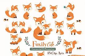 Cute Fox Clipart Baby Fox Mommy Fox Baby Clip Art Baby Fox Clip Art