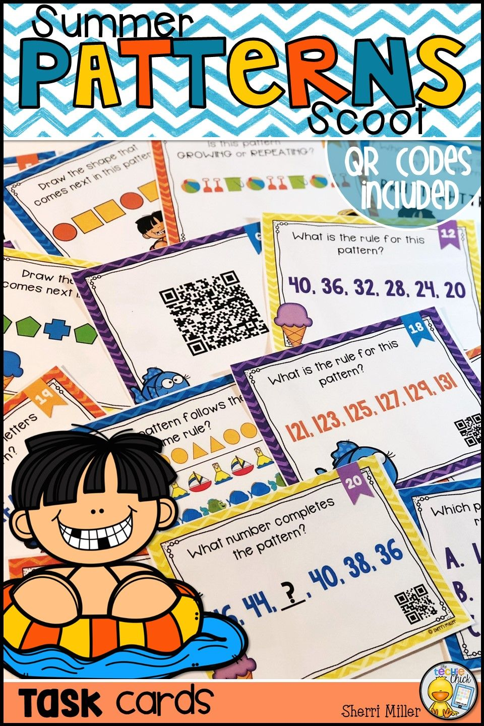 This fun summer themed task card set is a great way to review ...