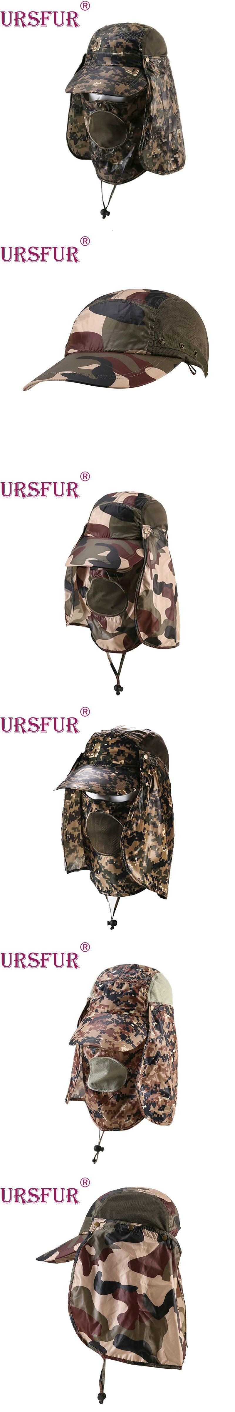 2ae37198584 URSFUR Women Men Hats Camping Bucket Hat Wide Brim Fishing Cap With Neck  Flap And Face