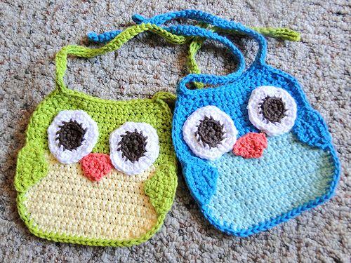 Cute Little Amigurumi Owl : Crochet baby bib pattern free video and tutorials bibs owl and