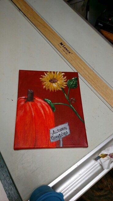 pumpkin 8 x 10 acrylic on Canvas