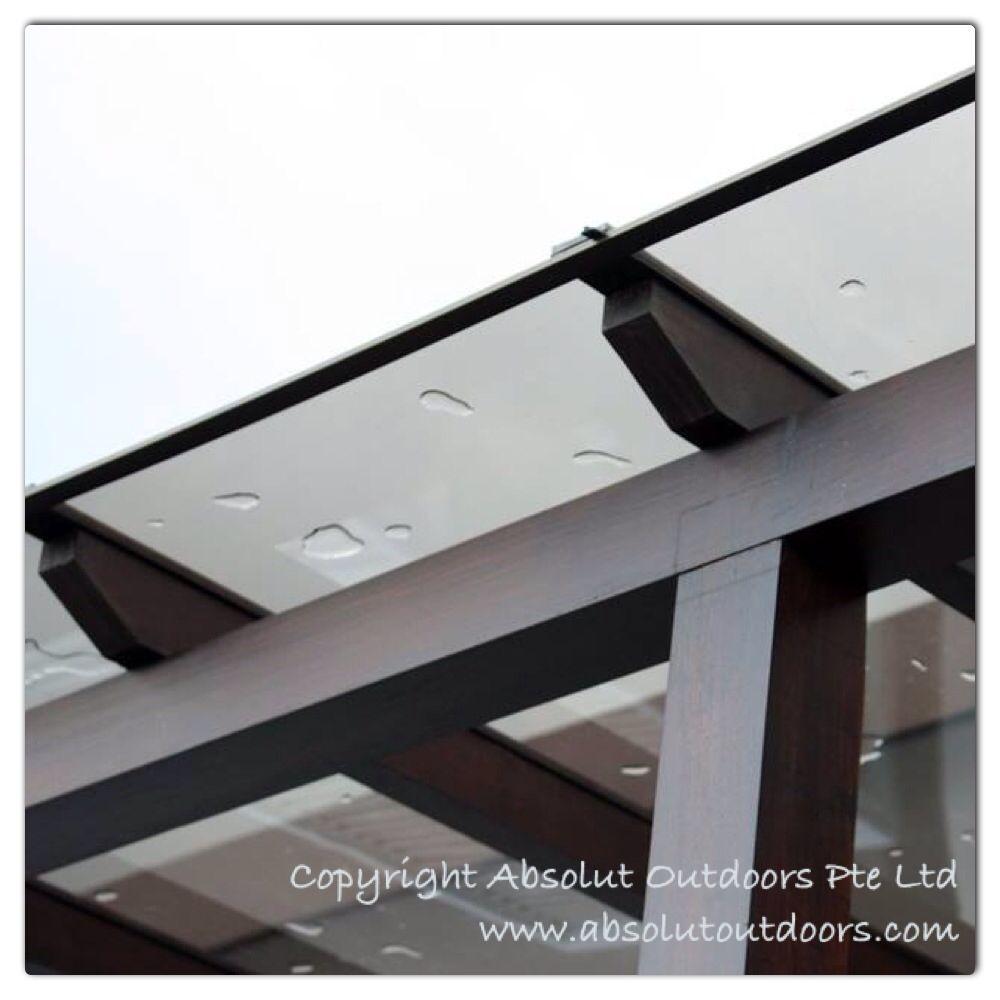 Polycarbonate Roof On Trellis Pergola With Roof Pergola Patio Patio Trellis