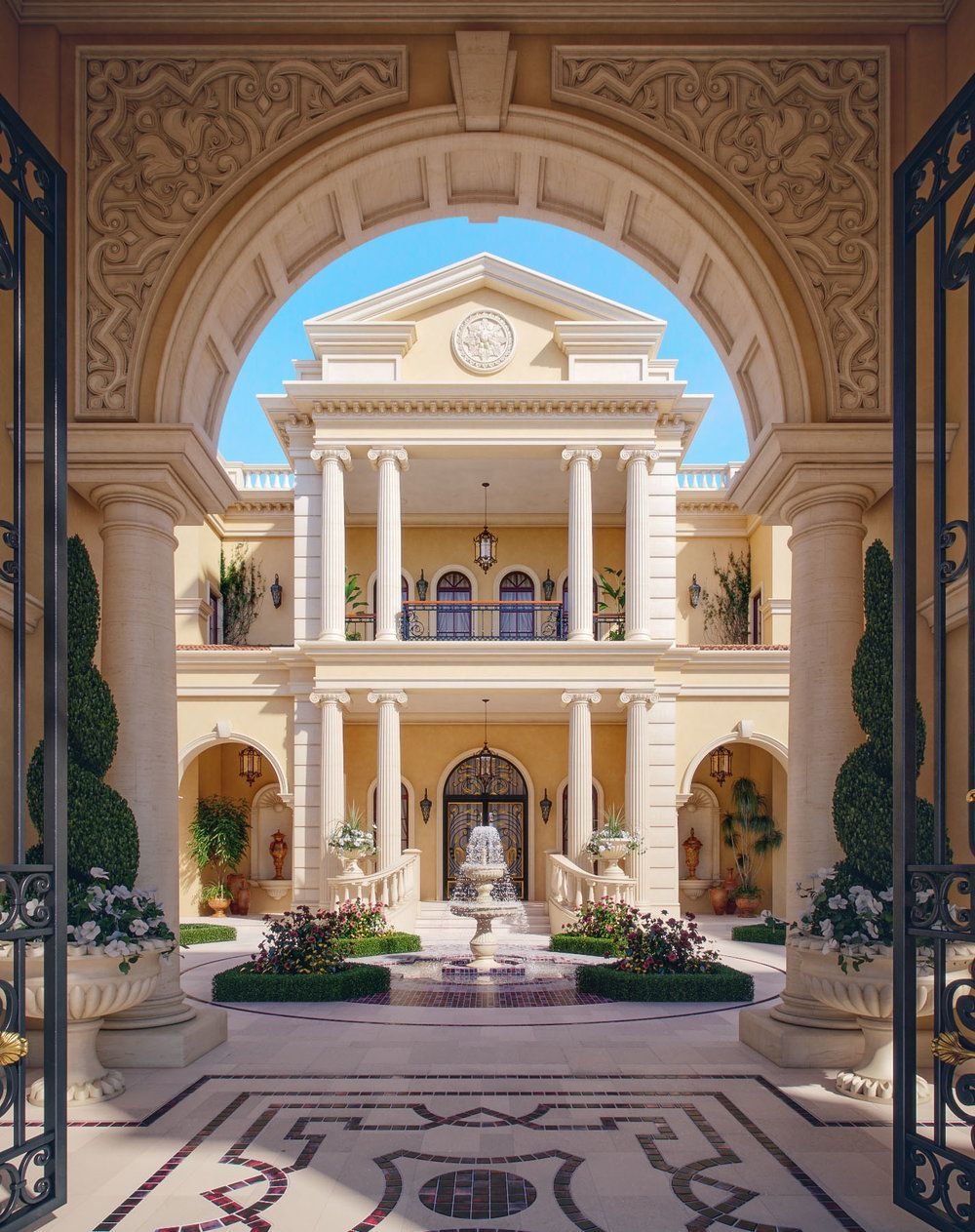 Professional luxury villa exterior designs in qatar - Use Of Natural Materials Can Create A Beautifully Interior And Exterior Contact Us We Can Help You To Realize Your Bold Dreams Landscape Lan