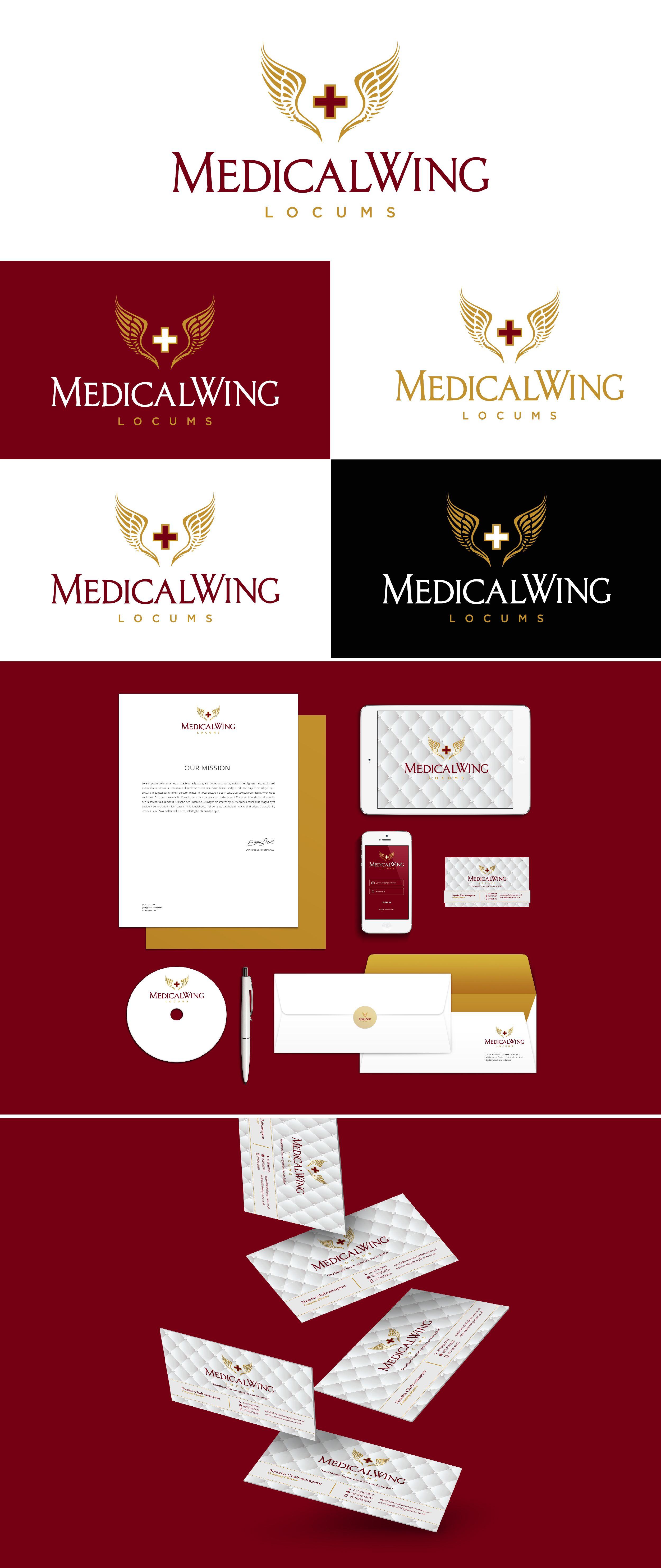 Medical Wing Locum Branding by Fivestar Branding   Fivestar Branding – Design…
