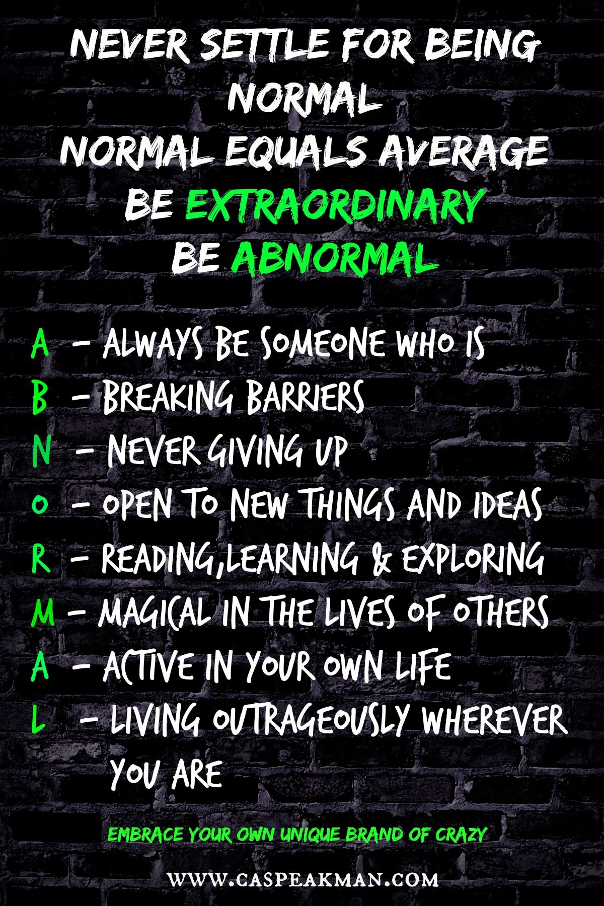 Embrace Your Differences Individuality Be Extraordinary Be