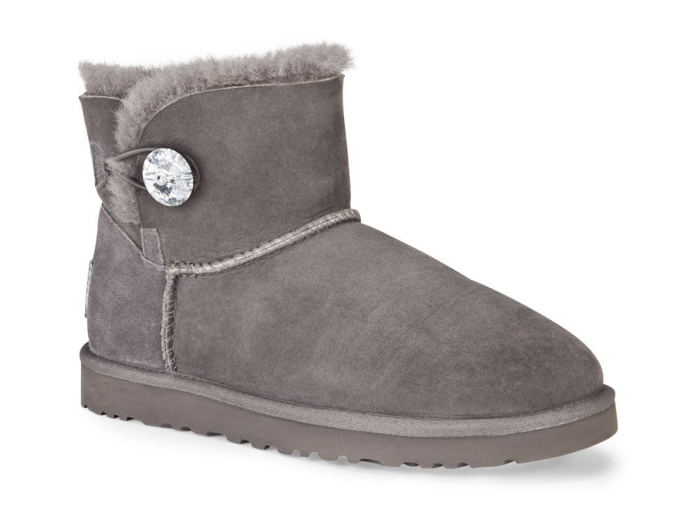 The women's UGG® Australia Mini Bailey Button Bling boot is a casually  glamorous choice for warm, cozy comfort on-the-go!