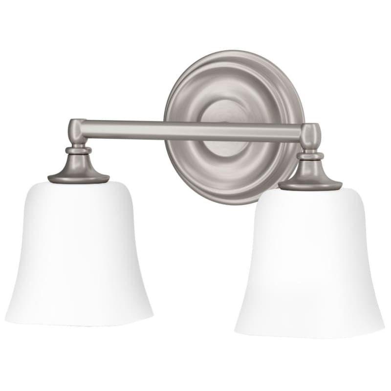 "Photo of Miseno ML4785VL Wharf Creek 2 Light 14 ""wide bathroom washbasin lamp brushed nickel interior lighting bathroom lights washbasin lamp"