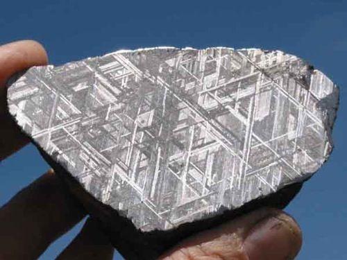 Meteorite Widmanstatten Pattern Meteorites Comets And Earth Delectable Widmanstatten Pattern
