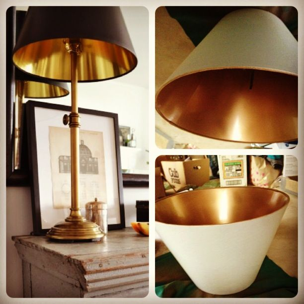 Ikea Lampe Gold Spray Painting An Ikea Lamp Shade | Ikea Lamp Shade ...