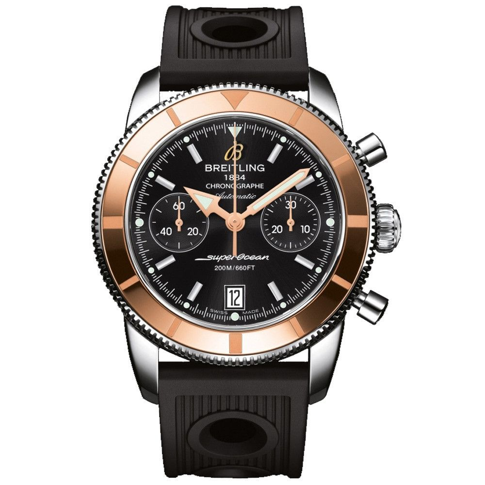 #Breitling Superocean Heritage #Chronographe Stainless Steel & Rose Gold #Watch
