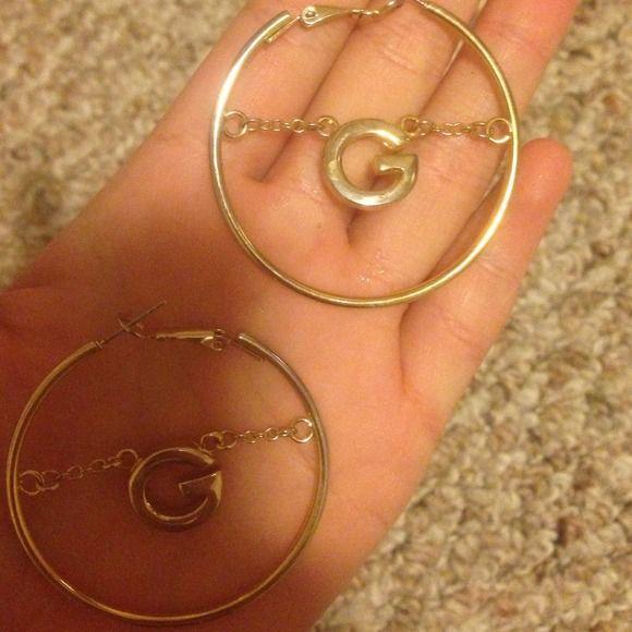 Guess earrings Gold guess earrings like new Guess Jewelry Earrings