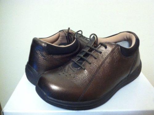 Drew Tulip Copper Metallic Leather Women's Walking Comfort Oxford Shoes 5.5 M
