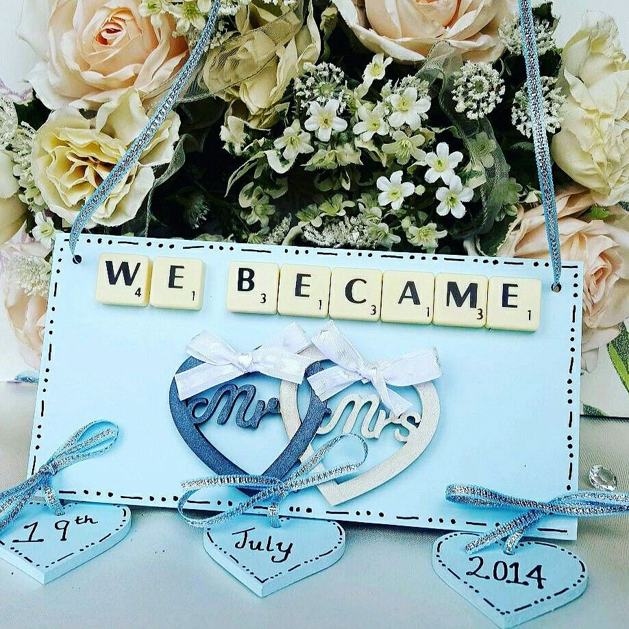 Keepsake Wedding Gifts: Handmade Wedding Keepsake Plaque