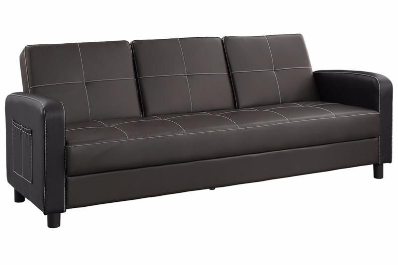 Tampa 3 Seater Stitching Leather Sofa Bed | Sofa Beds | Leather sofa ...