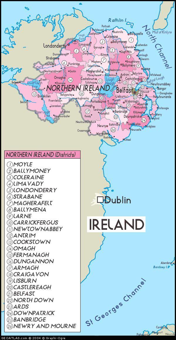 Northern Ireland Ulster Map Geneology Pinterest Ireland