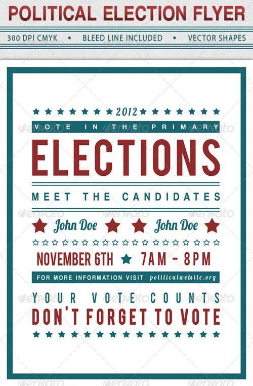 graphicriver political election flyer flyers pinterest flyer