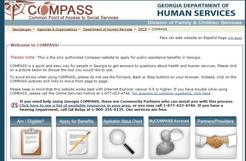 Compass Ga Gov Food Stamp Application  HttpWwwValery