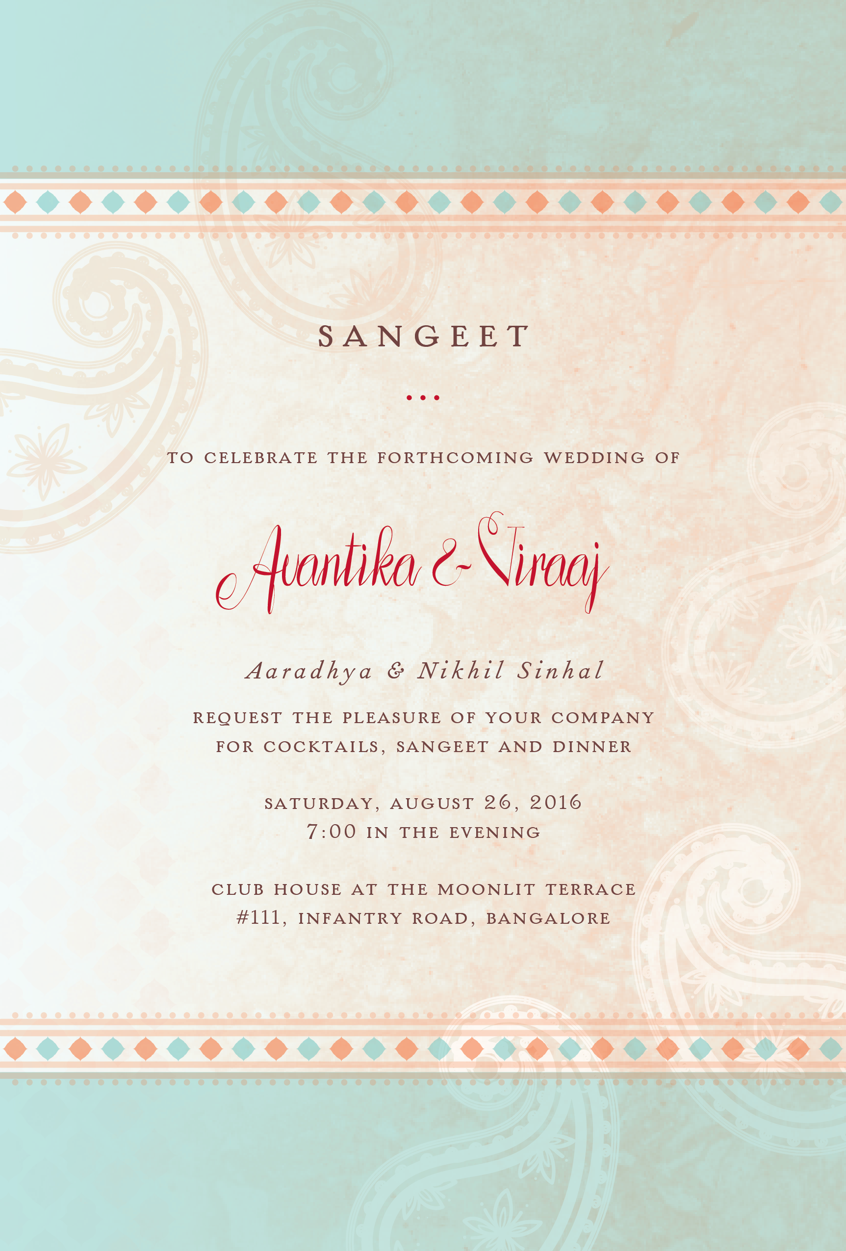 Exclusive Wedding Invitation Cards, Sangeet Cards, Wedding Reception ...