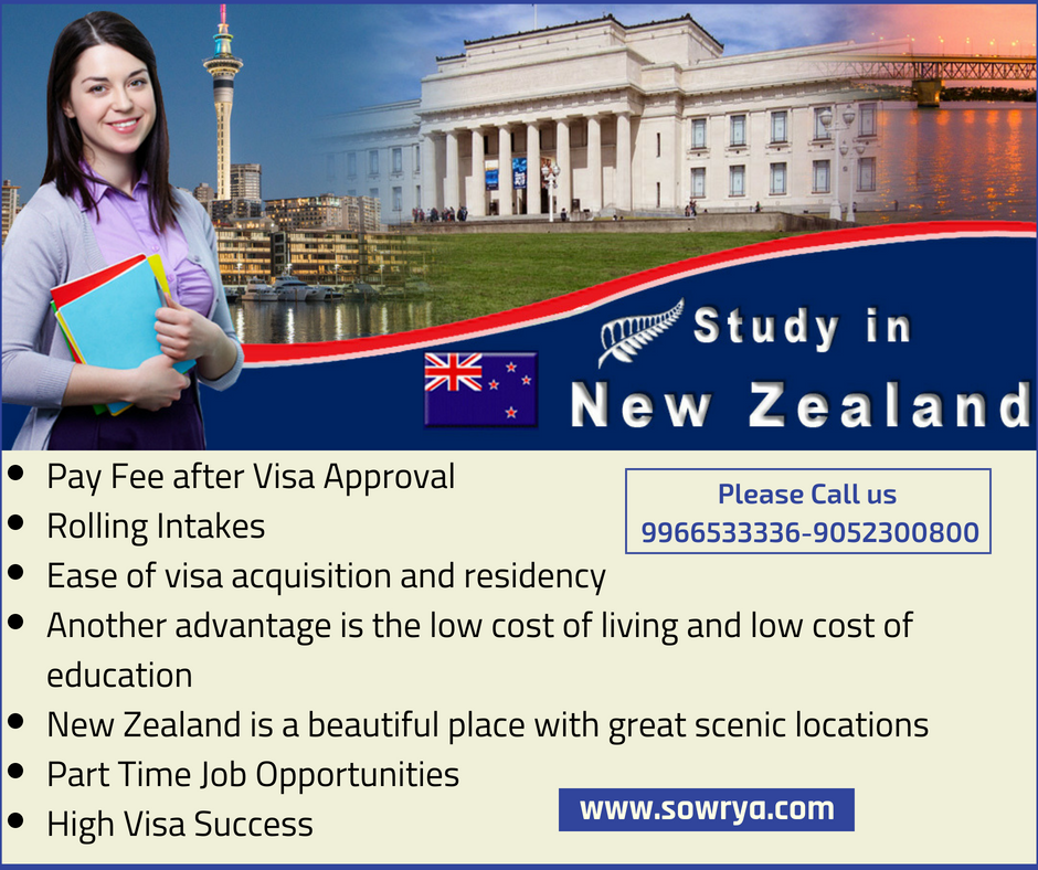 Some Advantages Of Studying In New Zealand Are Mentioned Below For