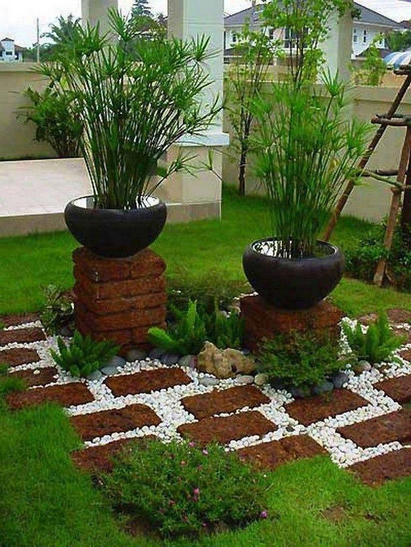 20 Stunning Front Yard Courtyard Landscaping Ideas Brick Garden