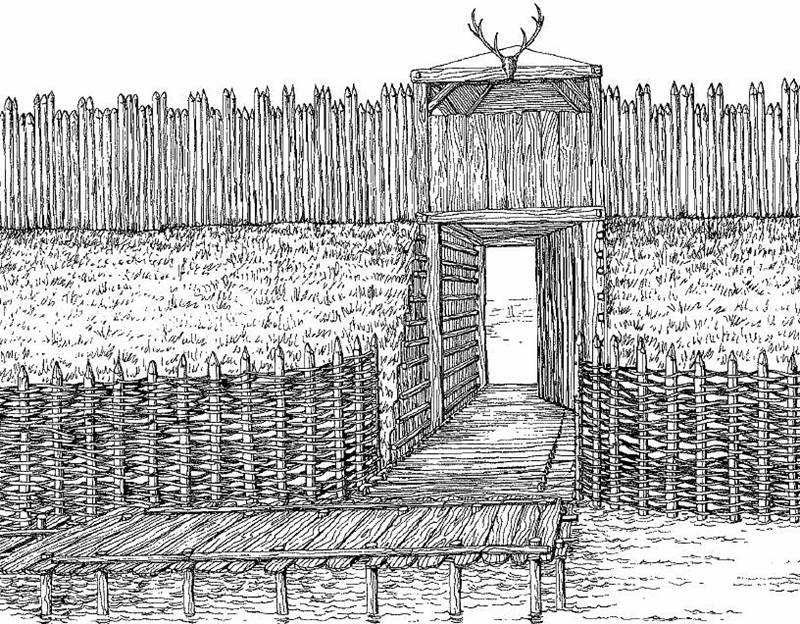 Medieval West Slavic gord (fortified settlement) in Spandau, disctrict of Berlin, Germany - entrance to the gord.