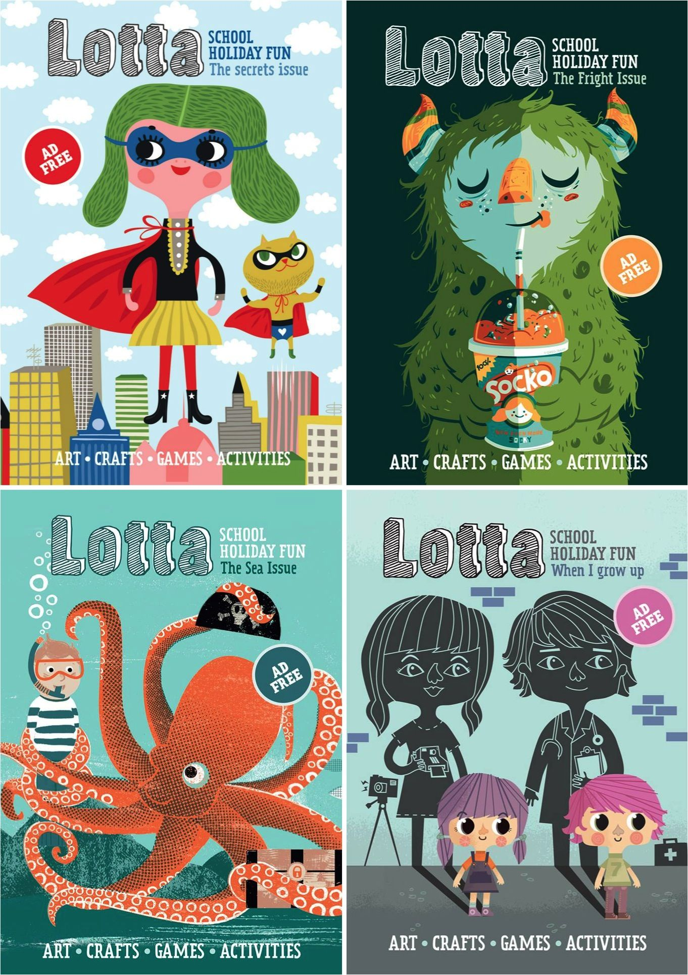Lotta Magazine ad free crafts & activities for kids