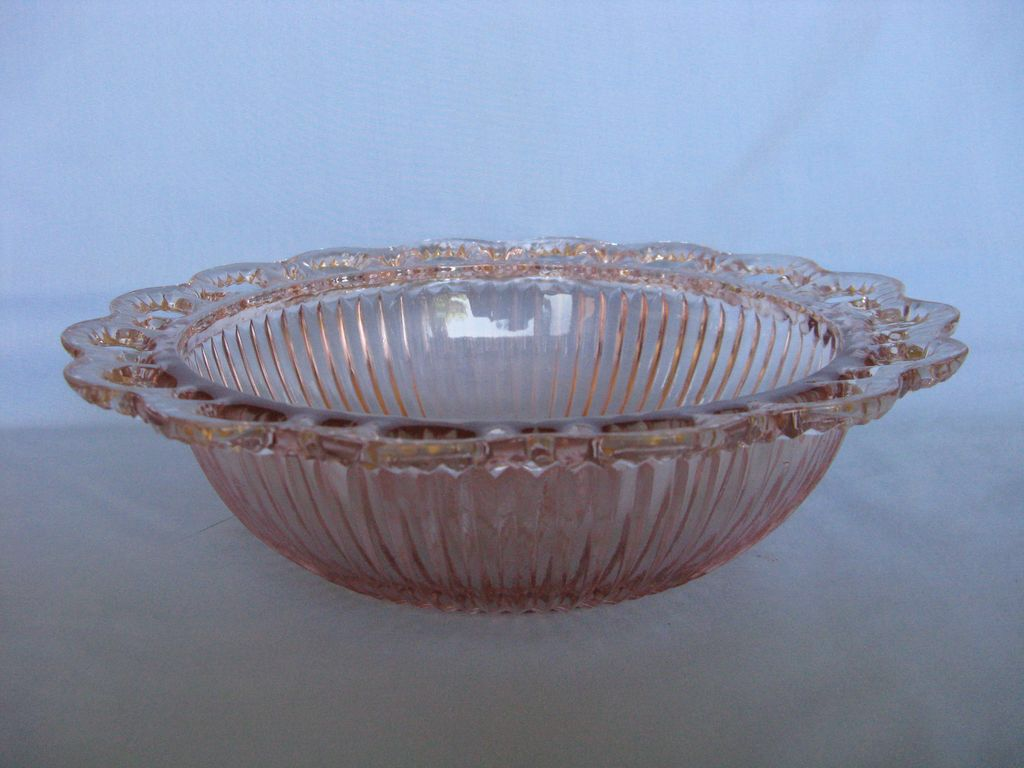 Old Colony pink depression glass