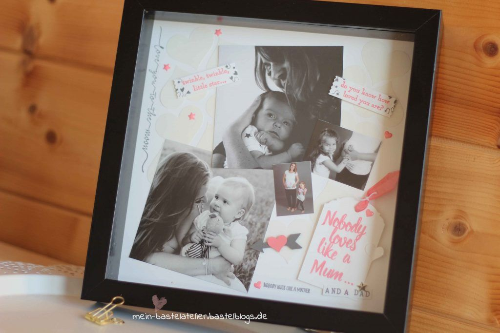 BABY SCRAPBOOKING LAYOUT RAHMEN – NOBODY LOVES LIKE A MUM | Rahmen