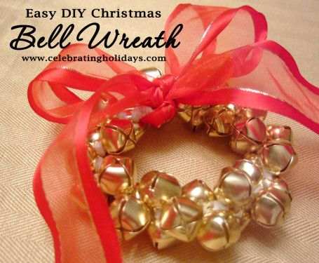Bell Wreath DIY Christmas Craft | Celebrating Holidays