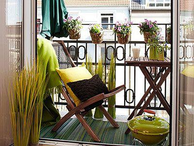 muebles para balcones pequeños   Exteriores - Outsides   Pinterest ...