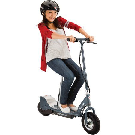 Razor E300s Seated Electric Scooter 9 Air Filled Tires Removable Seat Up To 15 Mph And 10 Miles Range Walmart Com Scooter Electrico Scooter Motor Eléctrico